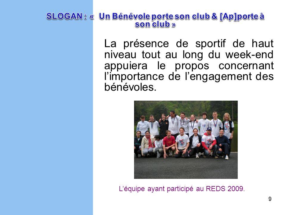 SLOGAN : « Un Bénévole porte son club & [Ap]porte à son club »